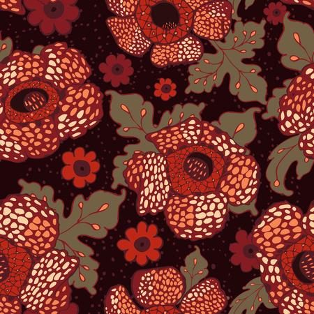 Rafflesia Flower Pattern Design