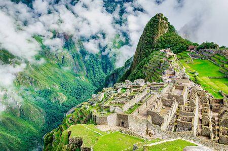 Machu Picchu famous Inca ruined city in Peru, South America