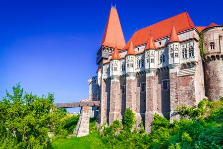 Castello di Corvin, famoso nella regione storica della Transilvania, Romania.