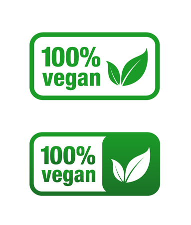 Icon for vegan food. Vegan vector icon.