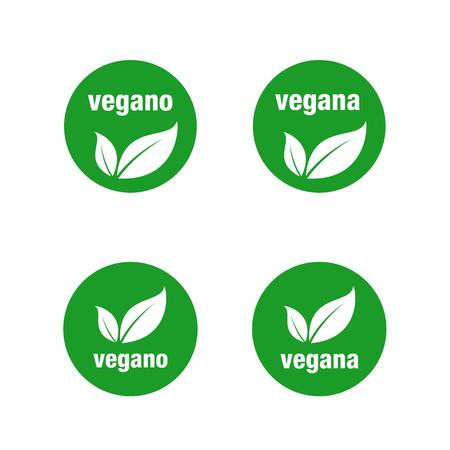Icon for vegan food. Vegan vector icon.