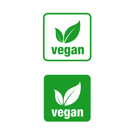 Icon for vegan food, Vegan vector icon. Square. Иллюстрация