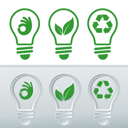 Icon sets for renewable energies. 向量圖像