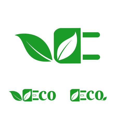 Eco friendly  icon Illustration