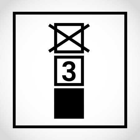 Stacking limit 3 icon on white background  イラスト・ベクター素材