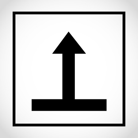 This way up icon on white background