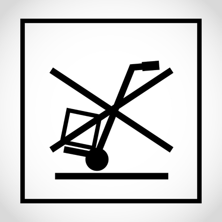 Do not use hand truck here icon on white background