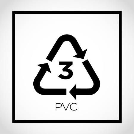 3 PVC icon on white background