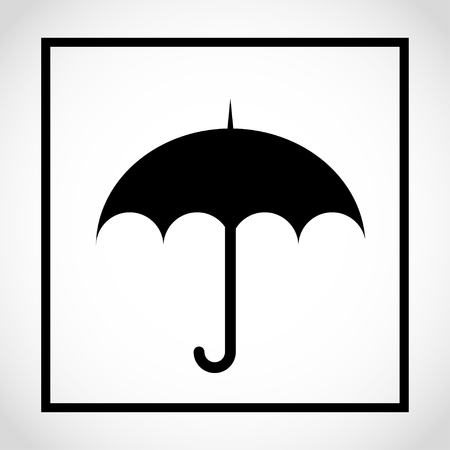 Keep away from rain packaging label icon Vector illustration.