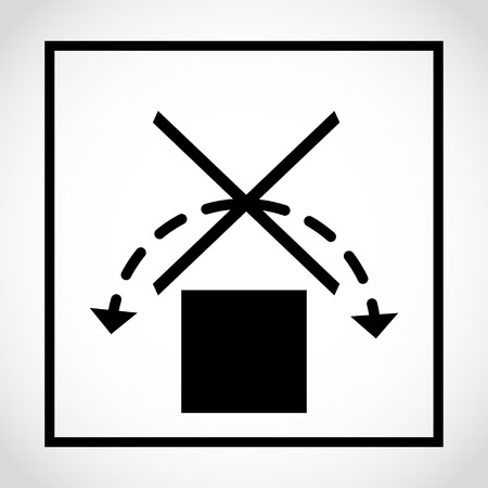 Do not roll packaging label icon Vector illustration.