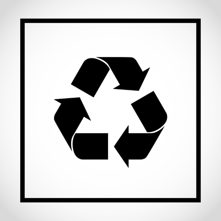 Recycle icon on white background Reklamní fotografie - 97466229