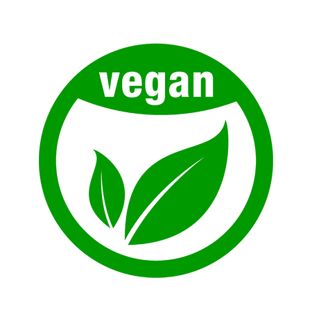 icon for vegan food Vector illustration.