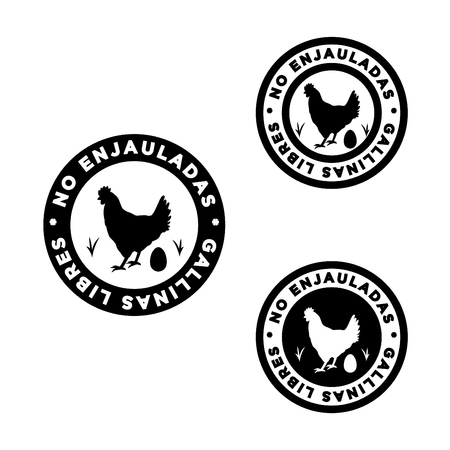 logo to define foods from non-caged hens in English,