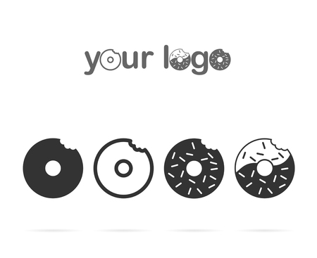 drawings of donuts for logo design