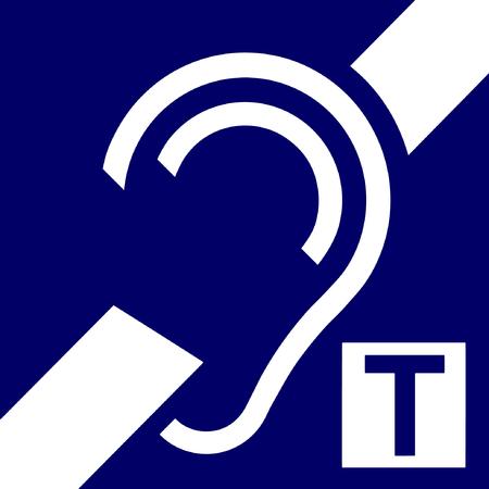 icône de boucle pour les malentendants, vecteur, signal.