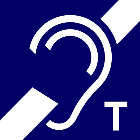 Symbol der Schleife für Hörgeschädigte, Vektor, Signal.