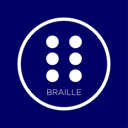 Vector illustration of the symbol There are elements in Braille