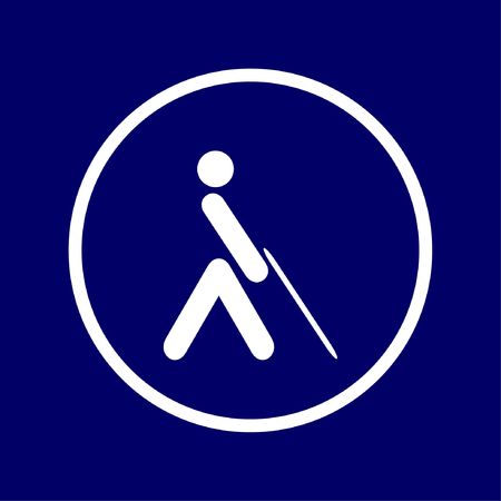 Accessibility icon, poor vision, people with blindness Vectores