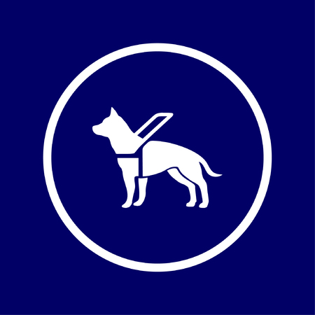sign to indicate that assistance dogs are welcome - Vector Vectores