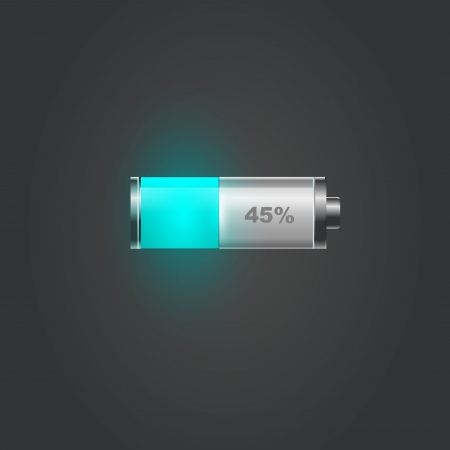 User interface battery charge level indicator Imagens - 15853811