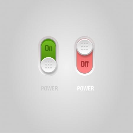 User interface power sliders  Ilustração