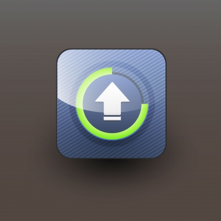 scanned: User interface download icon  Illustration