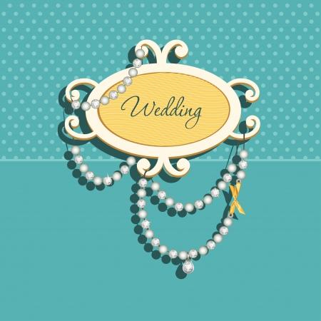 jewellery: Glamorous doodle for wedding invitation