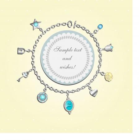 doodle with charm bracelet Imagens - 20299206