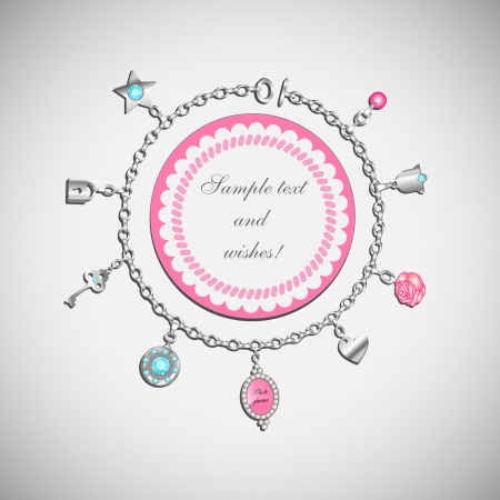 doodle with charm bracelet  Vector