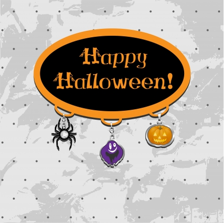 Halloween doodle with holiday charms  Vector
