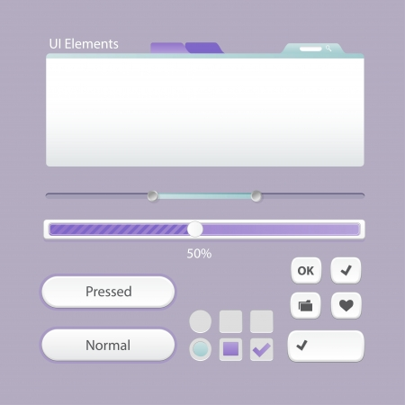 nudes: UI Web Elements  Buttons, Switchers, On, Off, Player, Audio, Video