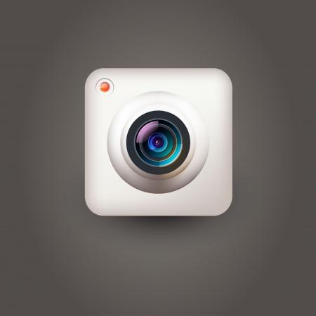 camera lens: User interface camera icon