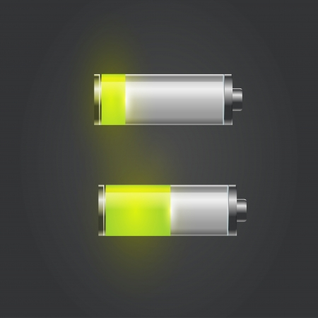 User interface battery charge level indicator  Vector