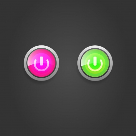 UI switch button Vector