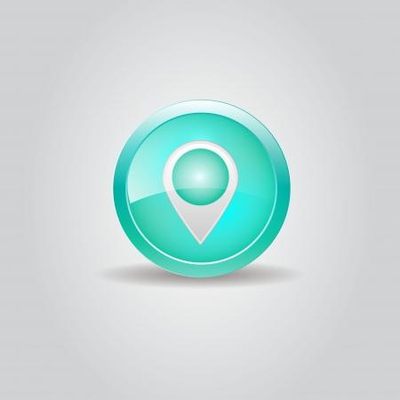 User interface map marker button  Vector