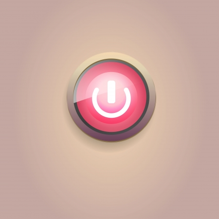 UI switch button  On Off   Vector
