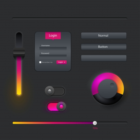 modern user interface elements  Vector