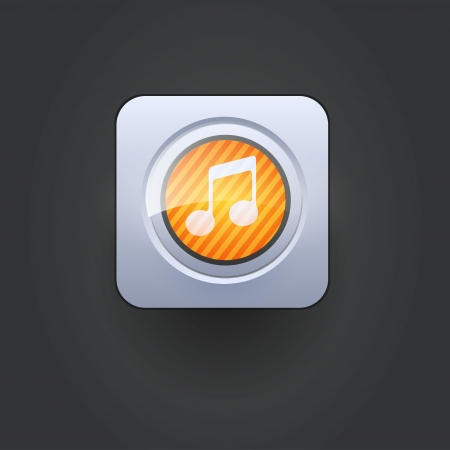 User interface music icon  Vector