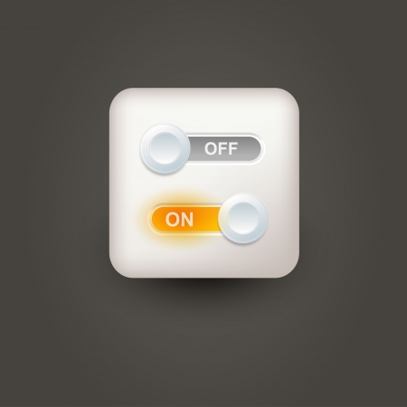 Icon with power sliders for user interface  Vector
