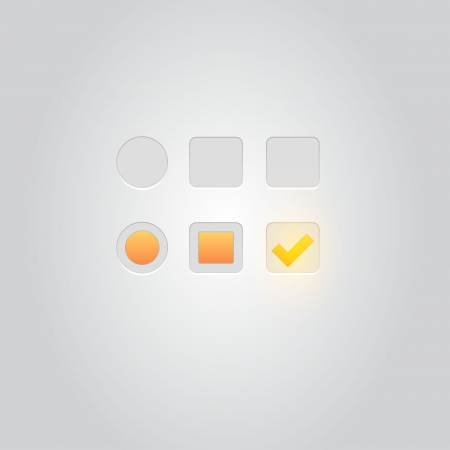 User interface elements  Buttons, Switchers, On, Off  Vector