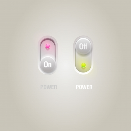 Power slider buttons for user interface  Vector