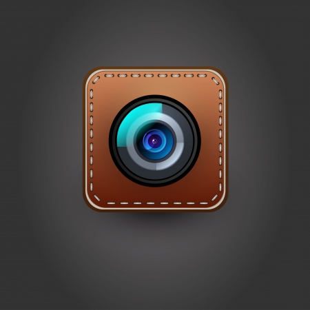 Camera icon for user interface  Vector