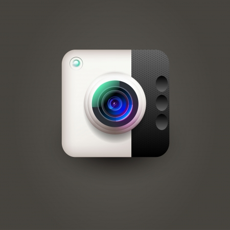 Camera icon for user interface  Illustration