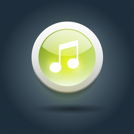 User interface icon for media player  Vector