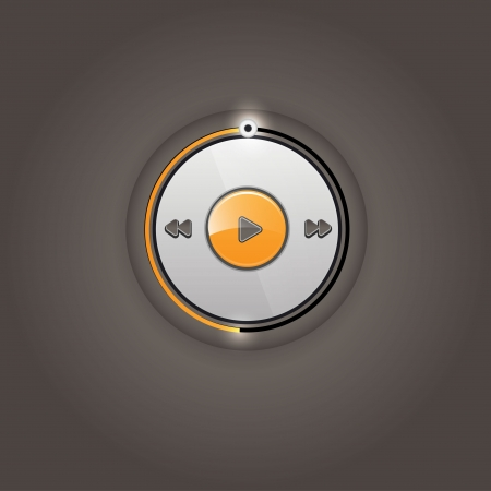 User interface media player  Vector