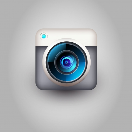 Camera icon for user interface  Vector