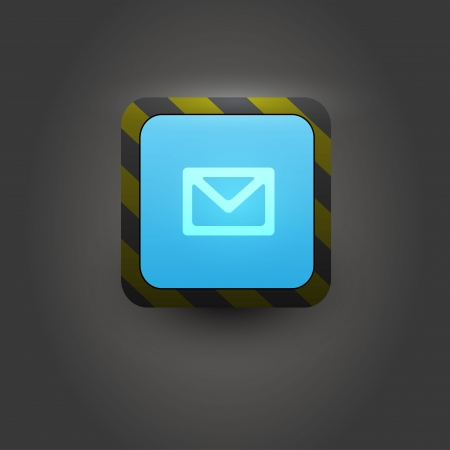 Mail box user interface icon  Vector