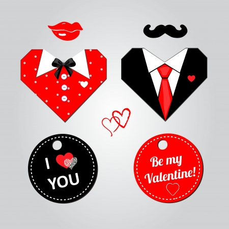 Valentine day hearts for couple  Vector