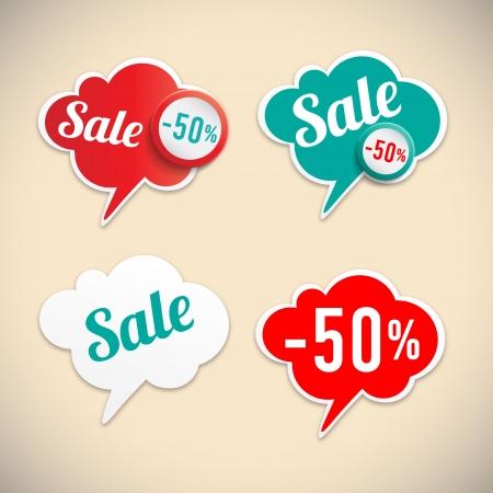 discount buttons: Sale stikers  Illustration