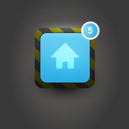 User interface home button  Vector